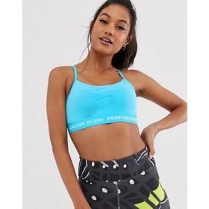 Calvin Klein Performance adjustable sports bra in blue