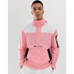 Columbia Challenger mesh lined windbreaker in pink