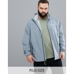 Columbia Plus Size Heather Canyon Water Resistant Hooded Jacket in Gray