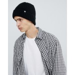 DC Shoes Ribbed Fisherman Beanie in Black
