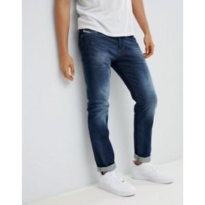 Diesel Buster regular slim fit jeans in 853R dark blasted