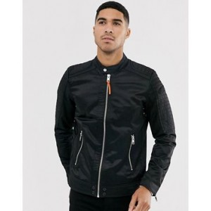 Diesel J-Shiro nylon biker jacket in black