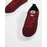 Diesel S-clever low top suede sneakers red