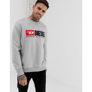 Diesel S- Division crew neck logo sweat in gray