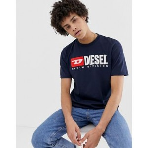 Diesel T-Just-Division logo t-shirt in navy