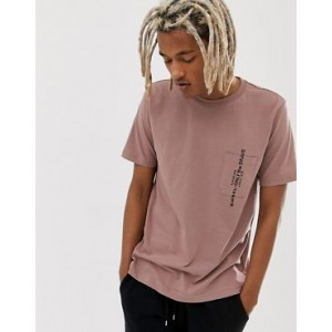 Diesel T-Just-Pocket t-shirt in dusty pink