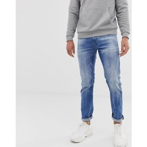 Diesel Thommer stretch slim fit jeans in 081AS light wash