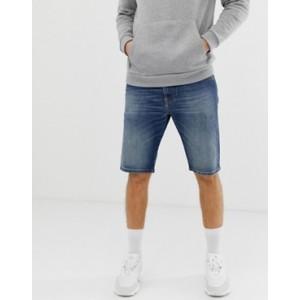 Diesel Thoshort 089AR denim shorts in mid wash