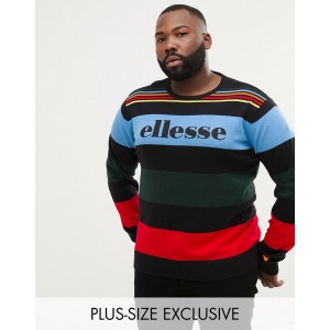 ellesse knitted sweater with bold block stripes