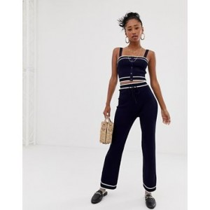 Emory Park knitted wide leg pants two-piece