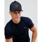 Emporio Armani velour logo baseball cap in black