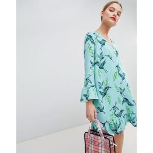 Essentiel Antwerp Drop Waist Dress in Bird Print