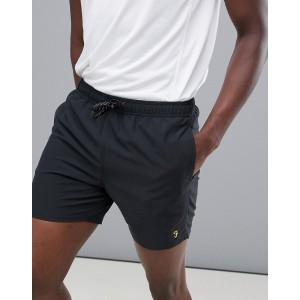 Farah Sport Bell logo swim shorts in black