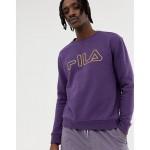Fila Black Line Basil Sweatshirt With Logo In Purple