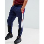 Fila Black Line Beckham Pannelled Track Sweatpants In Navy