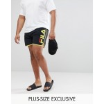 Fila Black Line Runner Swim Shorts With Logo In Black