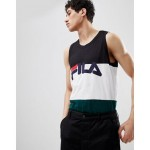 Fila Black Line tank with logo in white