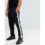 Fila White Line Friars Popper Sweatpants In Black