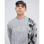 Fila x Liam Hodges Long Sleeve Striped T-Shirt In Gray