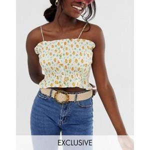 Glamorous Exclusive woven cream belt with tortoiseshell circle buckle