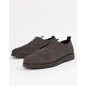 H By Hudson Barnstable derby shoes gray suede