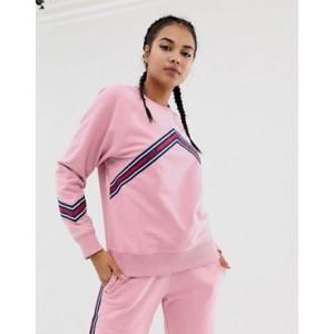 HIIT Stripe Detail Sweatshirt In Pink