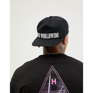 HUF Serif Snapback Cap With Embroidered Logo In Black