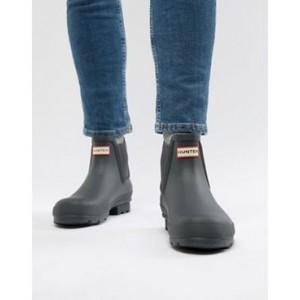 Hunter original chelsea boots in gray
