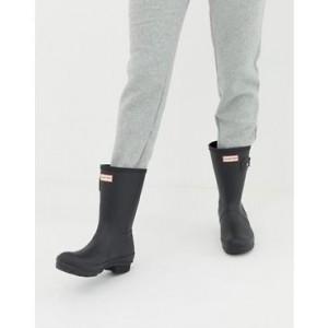 Hunter Original short wellington boots in black