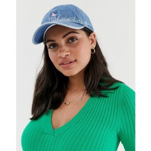 Jack Wills Enfield cap with embroidered logo in denim