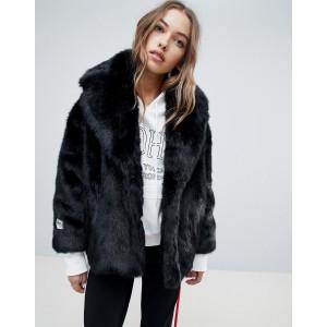 Jakke cropped coat in faux fur