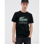 Lacoste large croc print t-shirt in black