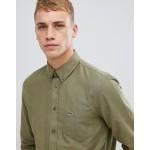 Lacoste logo oxford shirt in khaki