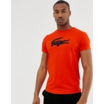 Lacoste Sport large croc logo t-shirt in red