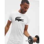 Lacoste Sport large croc logo t-shirt in white