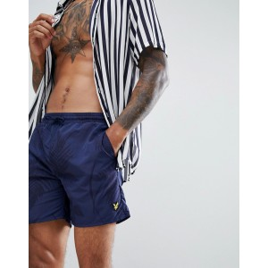 Lyle & Scott Fern Print Swim Shorts In Navy