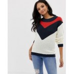 Mamalicious maternity chevron knitted sweater
