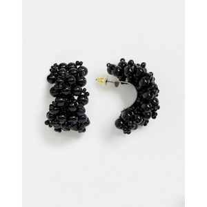 Mango beaded earrings in black