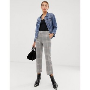 Mango checked pants in Multi