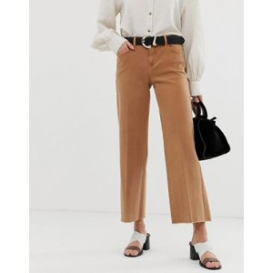 Mango cropped wideleg jean in rust