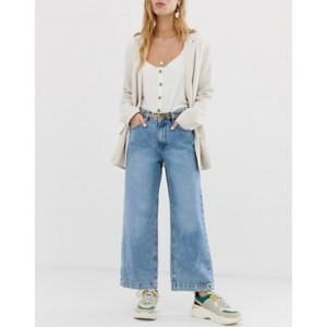 Mango denim culotte in light blue