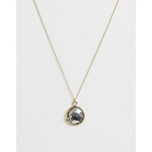 Mango drop necklace in gold