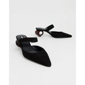 Mango interest heeled shoe in black