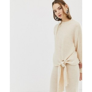 Mango knitted jumper with tie co-ord