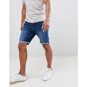 Mango Man Denim Shorts In Dark Blue