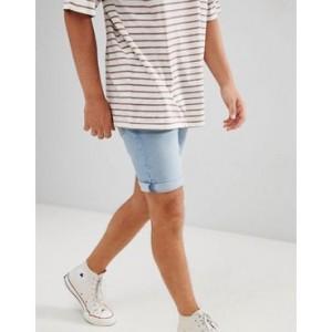 Mango Man Denim Shorts In Light Blue