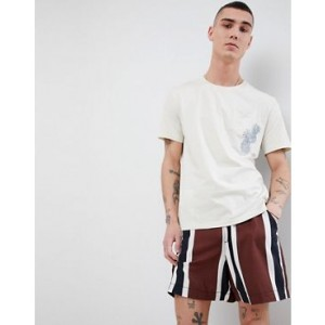 Mango Man Embroidered T-Shirt In White