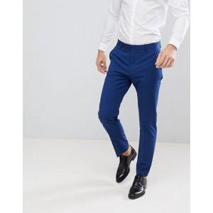 Mango Man Slim Fit Suit Trousers In Navy