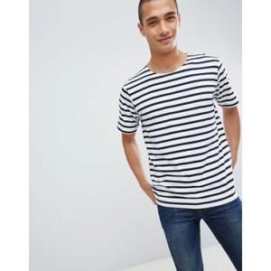 Mango Man Striped T-Shirt In Blue