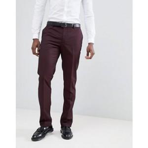 Mango Man Suit Pants In Burgundy